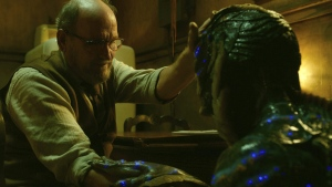 Richard Jenkins, left, and Doug Jones in a scene from 'The Shape of Water.' (Fox Searchlight Pictures via AP)
