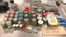 Products seized from an illegal market that was set up in downtown Vancouver are shown in an image provided by police.