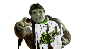 """Kelvin Ooms, otherwise known as """"Rush Hulk"""" has been banned from an upcoming NLL game. (Rush Hulk/Twitter)"""
