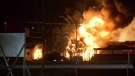 Fire at B.C. railyard takes hours to extinguish
