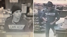 RCMP released stills taken from surveillance footage showing the male suspect in an armed robbery at a Beaumont convenience store late Monday, January 22, 2018. Supplied.