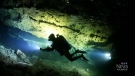 Cave diver teaches students about underwater world