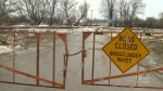 High water, ice jams causing flooding