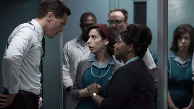 "This image released by Fox Searchlight Pictures shows Michael Shannon, from left, Sally Hawkins and Octavia Spencer in a scene from the film, ""The Shape of Water."" THE CANADIAN PRESS/FAP-ox Searchlight Pictures"