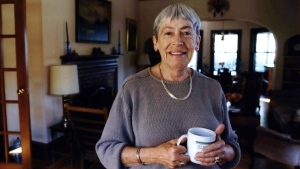 Ursula K. Le Guin American author of novels, children's books, is seen in a Sept. 9, 2001 photo at home in Portland, Ore. (Benjamin Brink/The Oregonian via AP)