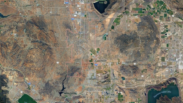 The community of Perris, Calif. is seen in this Google Maps image. (Source: Google Maps)