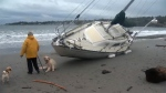 Weather played a role as three more boats washed up in Cadboro Bay since Monday. Jan. 23, 2018. (CTV Vancouver Island)
