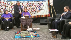 The National Inquiry into Missing and Murdered Indigenous Women and Girls in Yellowknife, Northwest Territories on Jan. 23, 2018. (CTV News)