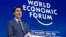 Prime Minister Justin Trudeau addresses the World Economic Forum Tuesday, January 23, 2018 in Davos, Switzerland. Trudeau says Canada and 10 other countries of the Trans-Pacific Partnership have agreed to a revised trade agreement. THE CANADIAN PRESS/Paul Chiasson