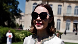 In this July 6, 2015 file photo, designer Ulyana Sergeenko arrives at Christian Dior's fall-winter 2015/2016 Haute Couture fashion collection presented in Paris. (AP Photo/Thibault Camus, File)