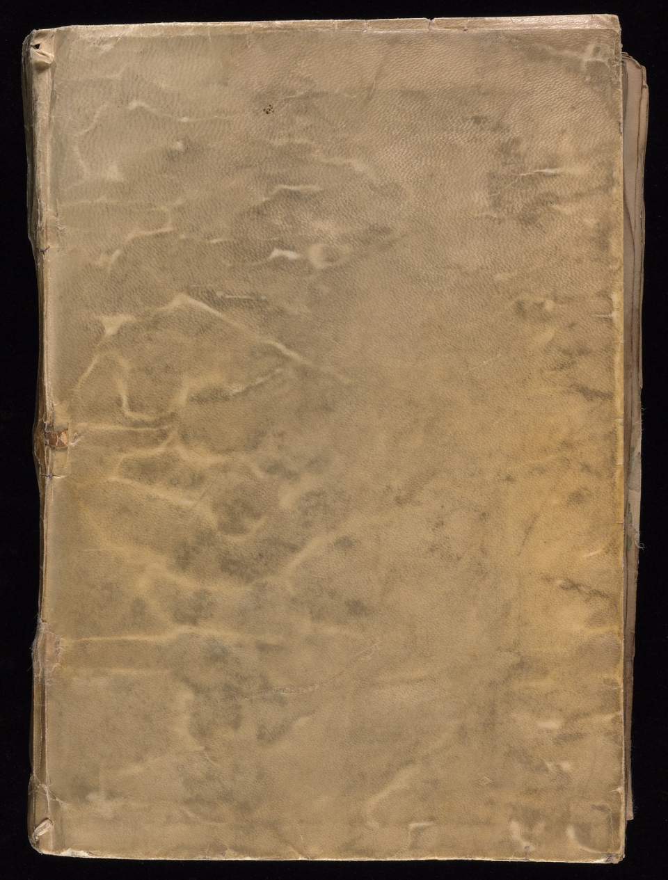 Front cover of the Voynich Manuscript. (Credit: Beinecke Rare Book and Manuscript Library, Yale University)