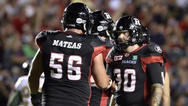 Ottawa Redblacks' Alex Mateas