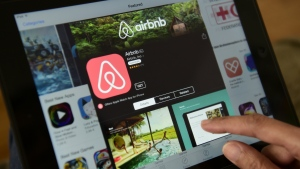 In April, the city reached a deal with Airbnb requiring all short-term rentals on the site to display a valid business licence number by September 1, 2018. (AFP PHOTO/John MACDOUGALL)