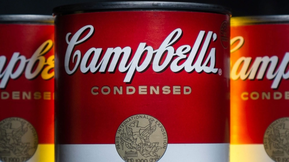 FILE - In this Jan. 8, 2014, file photo, cans of Campbell's soup are photographed in Washington. (AP Photo/J. David Ake, File)