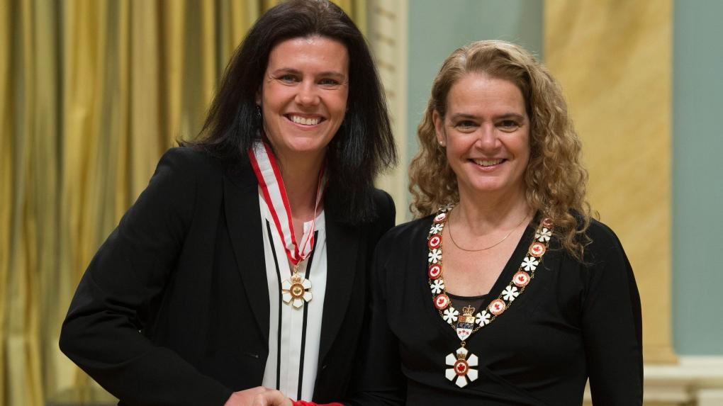 Julie Payette invests Christine Sinclair