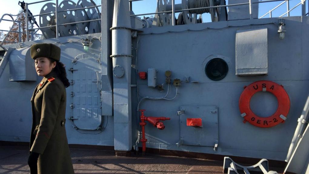 Captured U.S. Navy ship in North Korea