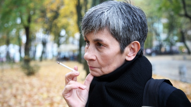 Older women smoking