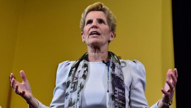 Ontario Premier Kathleen Wynne speaks to media at Legislative Assembly of Ontario in Toronto on Thursday Jan. 25, 2018. THE CANADIAN PRESS/Frank Gunn