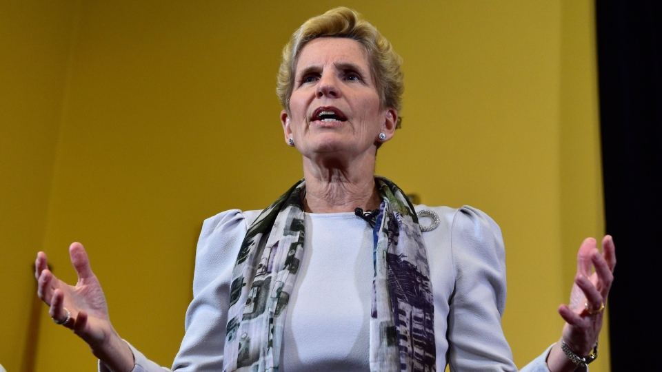 Ontario Premier Kathleen Wynne speaks to media at Legislative Assembly of Ontario in Toronto on Thursday Jan. 25, 2018. THE CANADIAN PRESS/Frank Gunn
