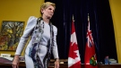 Ontario Premier Kathleen Wynne leaves a news conference at Legislative Assembly of Ontario in Toronto on Thursday Jan. 25, 2018. (THE CANADIAN PRESS/Frank Gunn)