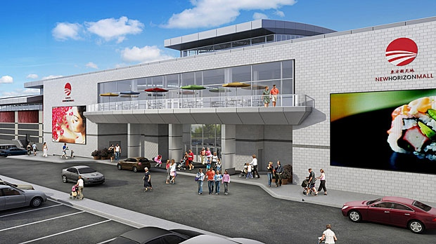 When completed, the shopping centre will house 500 stores and restaurants in 320,000 square feet of space. (Supplied)