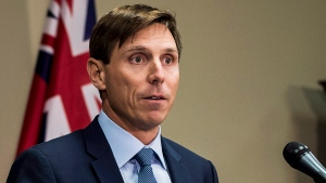 Ontario Progressive Conservative Leader Patrick Brown speaks at a press conference at Queen's Park in Toronto on Wednesday, Jan. 24, 2018. (THE CANADIAN PRESS / Aaron Vincent Elkaim)