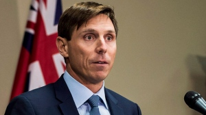 """Ontario Progressive Conservative Leader Patrick Brown speaks at a press conference at Queen's Park in Toronto on Wednesday, January 24, 2018. Ontario Progressive Conservative Leader Patrick Brown says he """"categorically'' denies """"troubling allegations'' about his conduct. A visibly emotional Brown said he was made aware of the allegations earlier on Wednesday, but he did not provide details on what those allegations are. THE CANADIAN PRESS/Aaron Vincent Elkaim"""