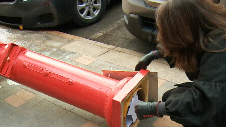A red mailbox in Saskatoon will gather love letters up until Valentine's Day. After that, a local artist will create original artwork on the envelopes before sending them off.
