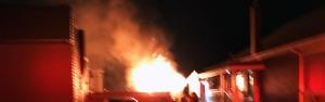 Firefighters battle garage fire in Brantford | CTV News