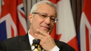 Ontario PC party interim leader Vic Fedeli speaks after a caucus meeting at Queen's Park in Toronto on Friday, Jan. 26, 2018. (Nathan Denette / THE CANADIAN PRESS)