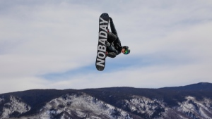 Max Parrot gets air during the slopestyle qualifiers at the winter X-Games on Thursday, Jan. 25, 2018, in Aspen, Colo. (Chris Dillmann/Vail Daily via AP)