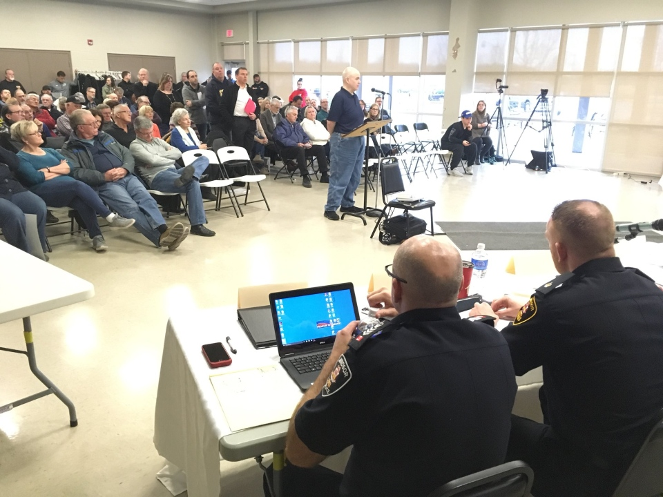An Amherstburg resident tells a panel he is worried the town will be put on the back burner by police should police services be contracted to Windsor Police Services.