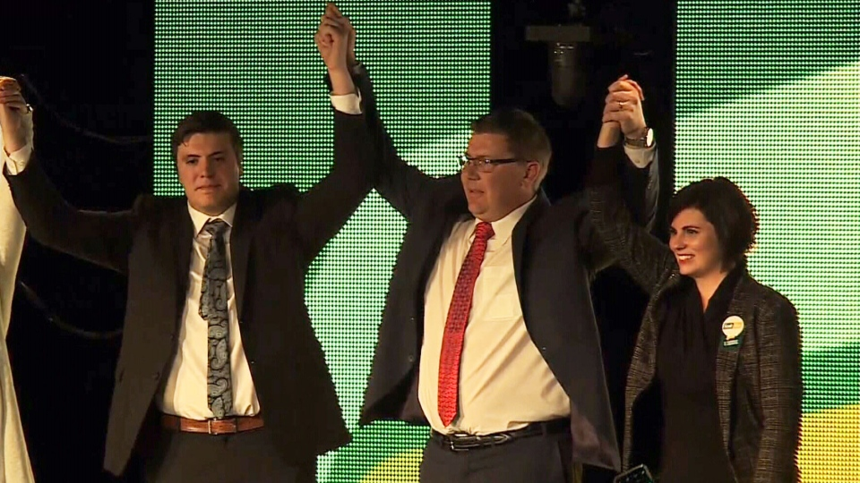Scott Moe wins the leadership of the Saskatchewan Party on Jan. 27, 2018.