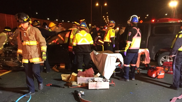 Woman, 22, killed in crash on QEW in Mississauga