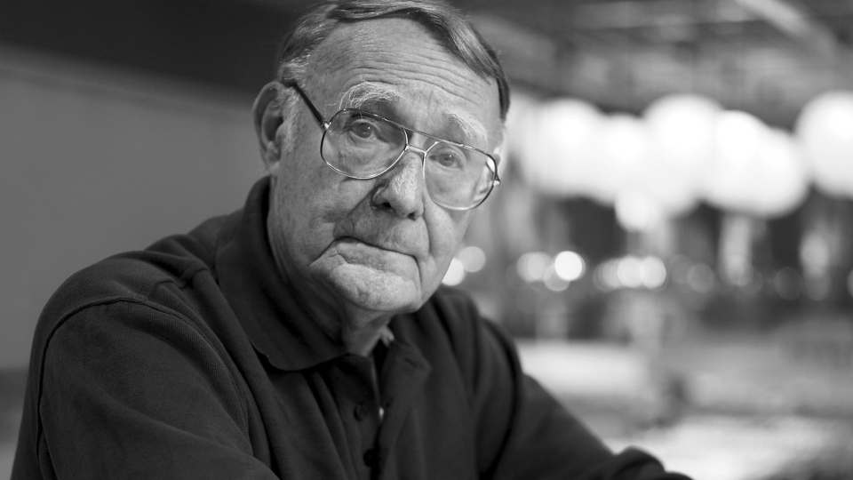 Ikea founder Ingvar Kamprad is shown in this image released by the company following his death on Jan. 28, 2018.