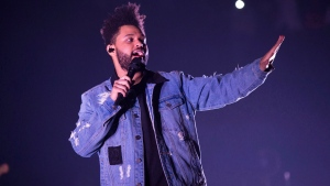 Recording artist The Weeknd performs at Power 105.1's Powerhouse 20167at Barclays Center in Brooklyn, New York, on October 26, 2017. THE CANADIAN PRESS/AP, Invision - Scott Roth