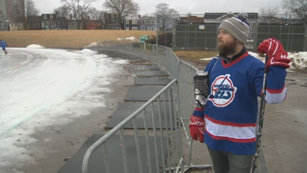 Ryan O'Quinn says a space in the middle of the Halifax oval could be converted into an accessible outdoor hockey rink.