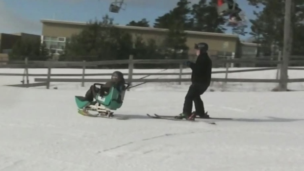 A day on the slopes with disabled youth
