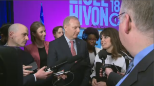 Veronique Hivon, a former competitor of Lisee's, will take on the co-leadership role as the party moves forward towards the October election. (CTV Montreal)