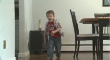 Benjamin Yanko, 5, running around.