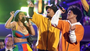 CTV News Channel: Bruno Mars performs with Cardi B