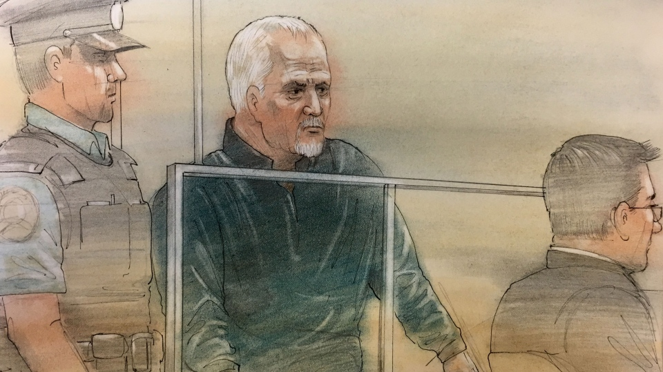 Bruce McArthur appears in court on Jan. 29, 2018. (Sketch by John Mantha)