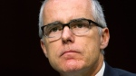 In this May 11, 2017 file photo, then-acting FBI Director Andrew McCabe listens during a Senate Intelligence Committee hearing on Capitol Hill in Washington. (AP Photo/Jacquelyn Martin)
