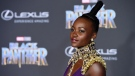 "Lupita Nyong'o, a cast member in ""Black Panther,"" poses at the premiere of the film at The Dolby Theatre on Monday, Jan. 29, 2018, in Los Angeles. (Photo by Chris Pizzello/Invision/AP)"