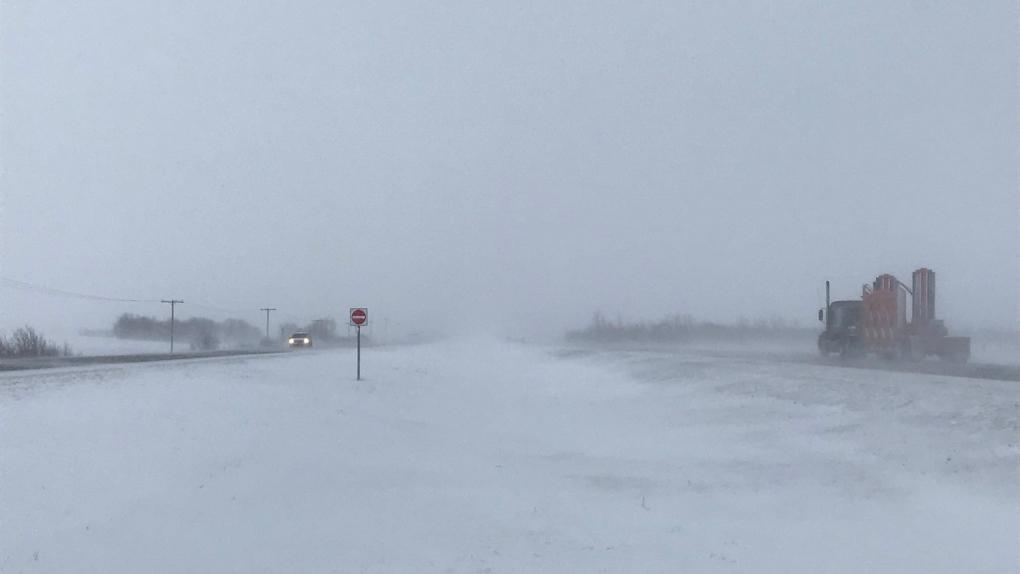 Blowing snow Saskatoon