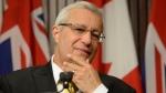 Ontario PC party interim leader Vic Fedeli speaks after a caucus meeting at Queen's Park in Toronto on Friday, January 26, 2018. Fedeli has been named interim leader of Ontario's Progressive Conservatives after Patrick Brown's resignation in the face of sexual misconduct allegations. THE CANADIAN PRESS/Nathan Denette