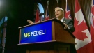 Ontario PC Party interim leader Vic Fedeli speaks to reporters on Jan. 30, 2018 where he announced his decision not to run for permanent leadership.