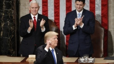 U.S. President Trump ends his State of the Union
