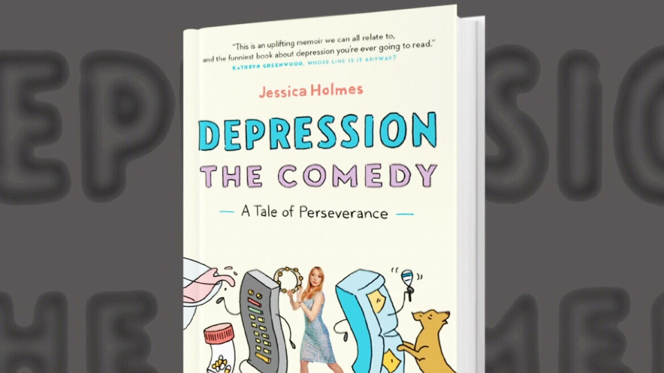 Depression: The Comedy, a new book by Jessica Holmes. (CTV)