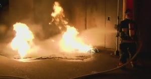 Porta potty arson
